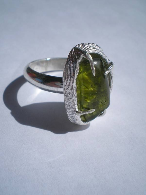 Sterling ring with Peridot