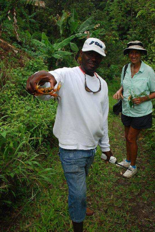 Alexis holding the land crab