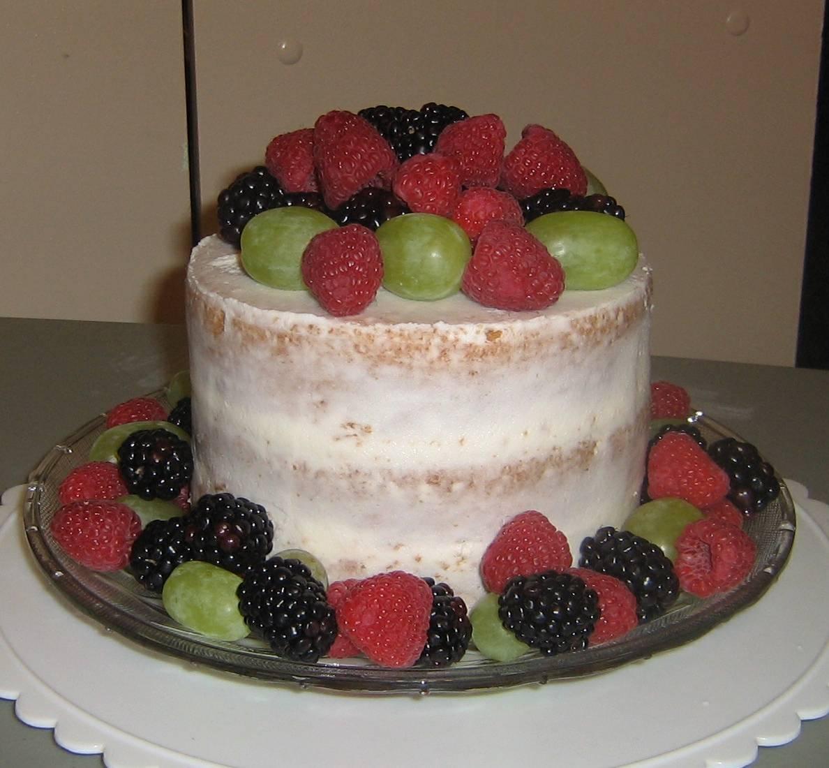 Vanilla Egg Free Naked Cake