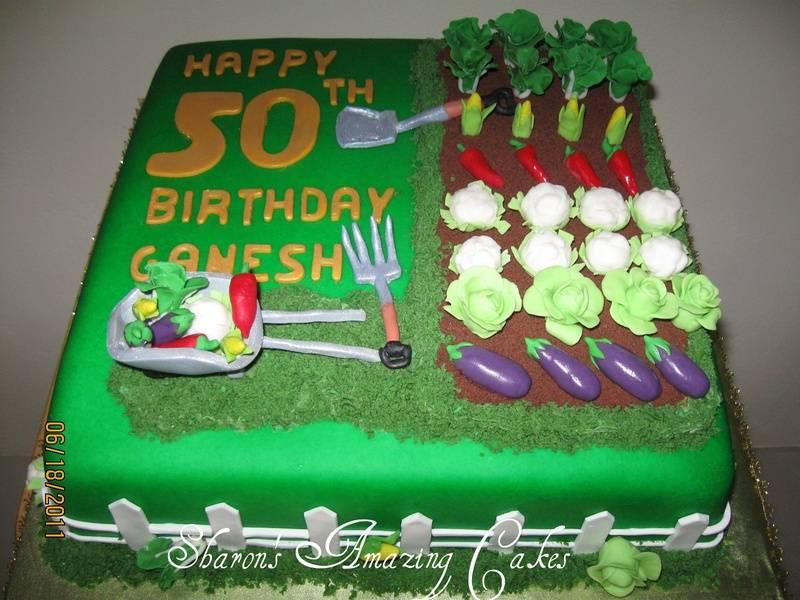 CAKE 30A1 -Vegetable Garden Cake