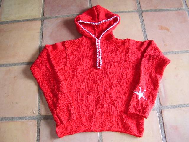 8.  hood sweater + front opening