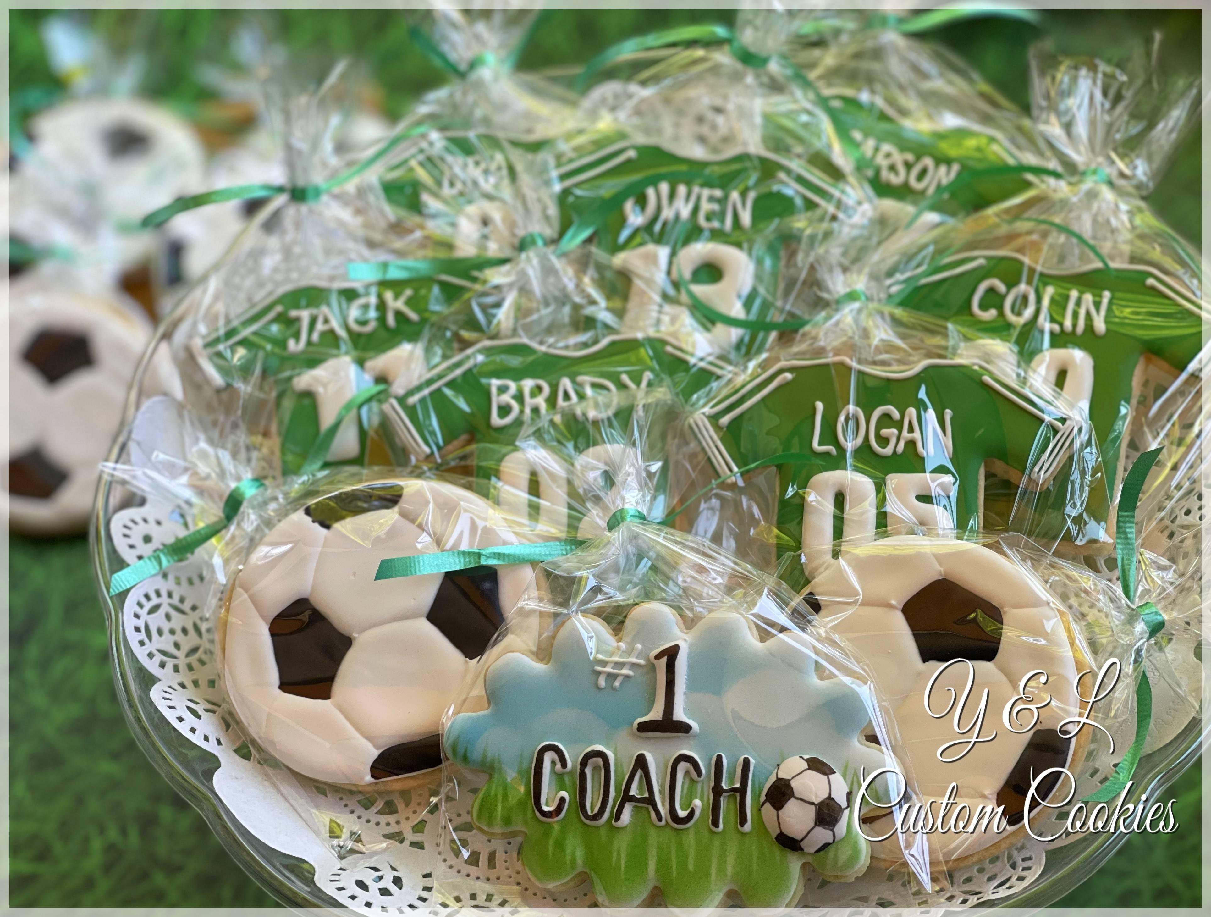 Soccer ball,  Jerseys & #1 Coach