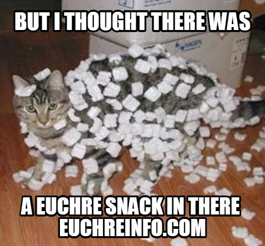 But I thought there was a Euchre snack in there.