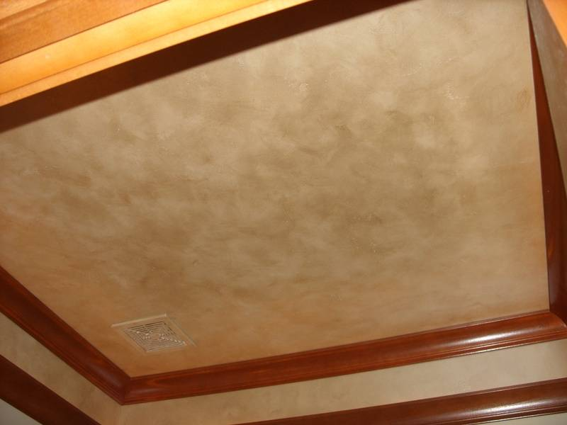 color wash with pearlized paint