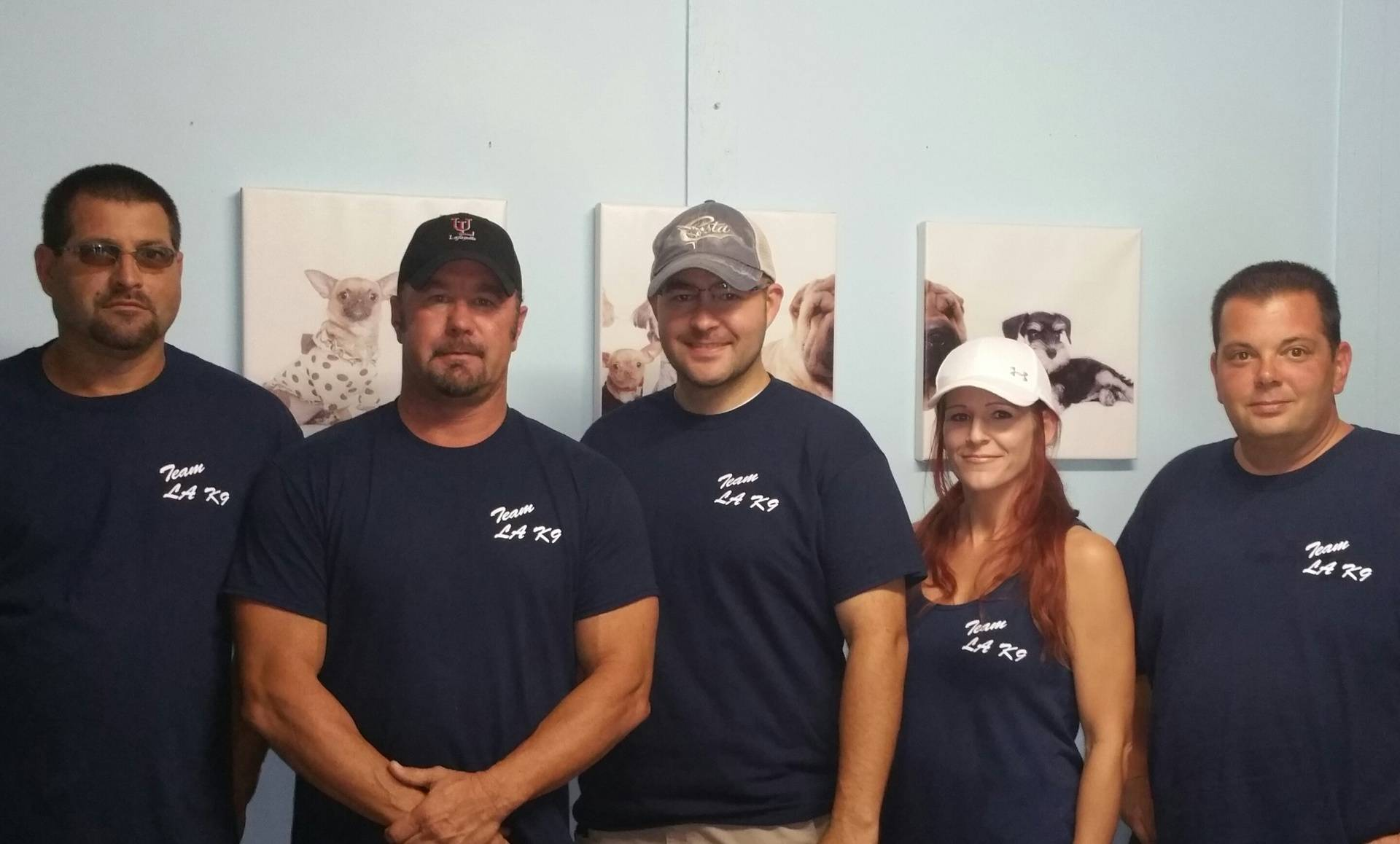 Some of the staff at Louisiana K-9