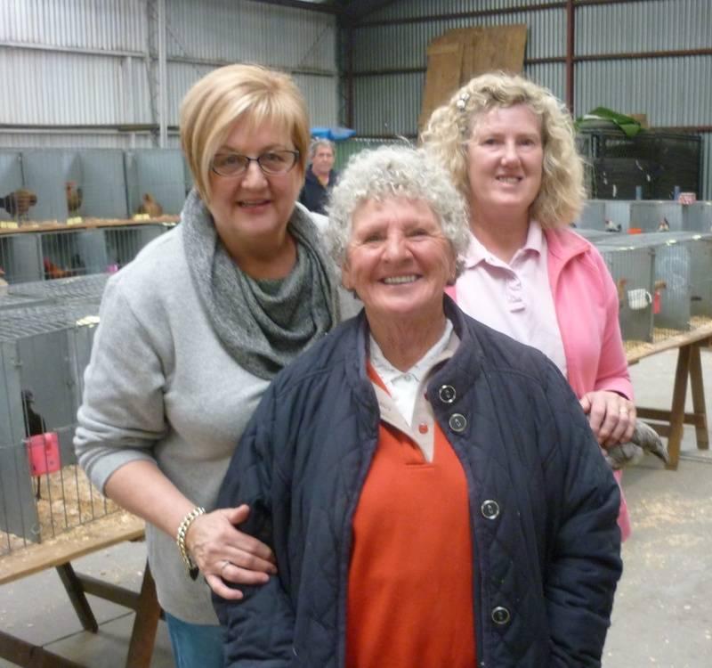 Liz, Irene and Anne Harrison enjoying the show
