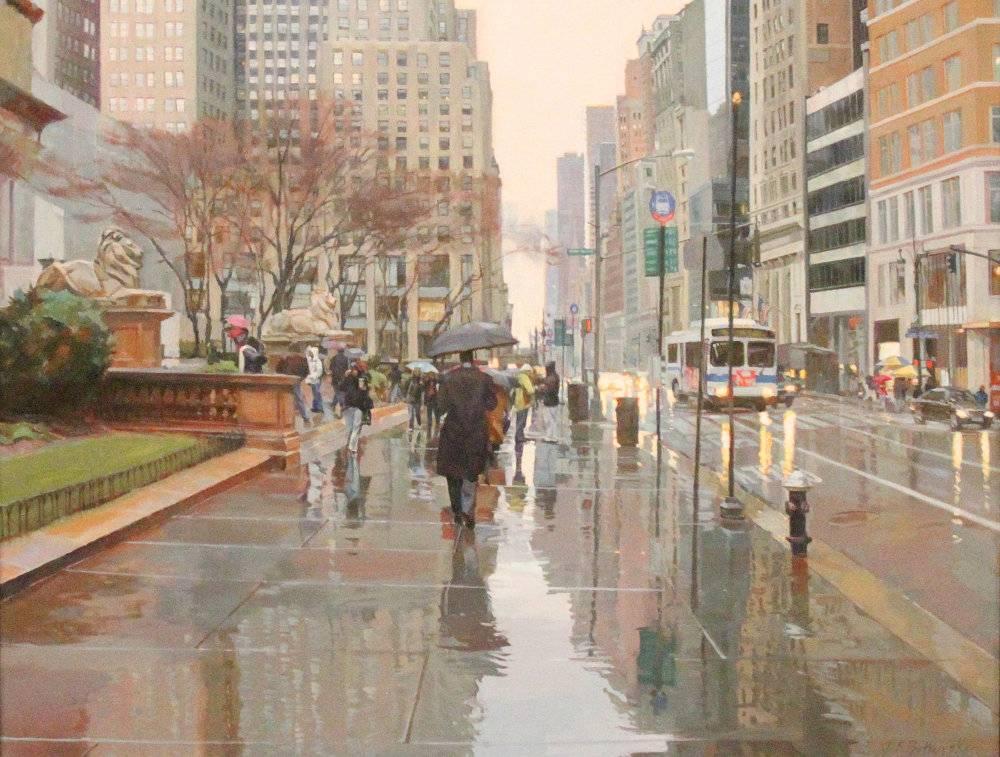 NYC RAIN LATE AFERNOON