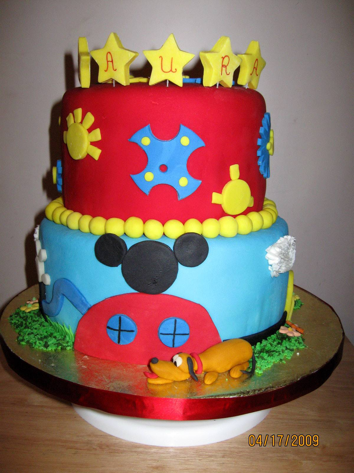 Cake 14A1 -Mickey Mouse Clubhouse Cake