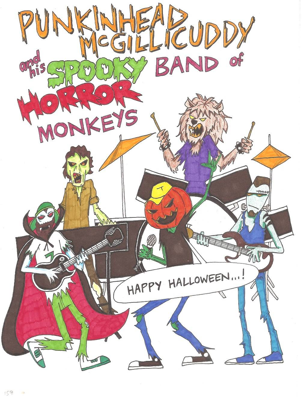 Episode 159 - Punkinhead McGillicuddy and his Spooky Band of Horror Monkeys