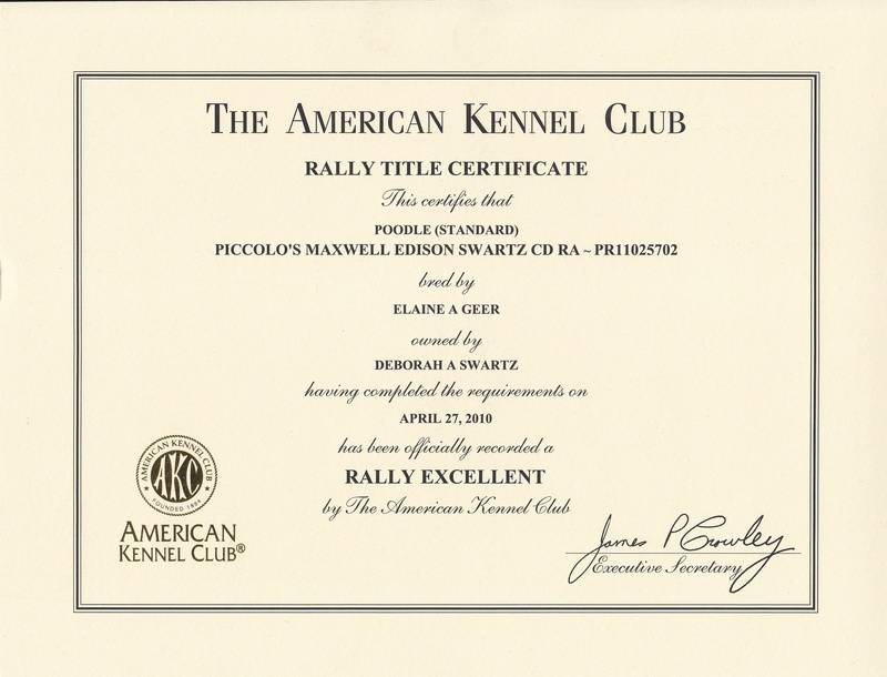 Maxwell RE title certificate