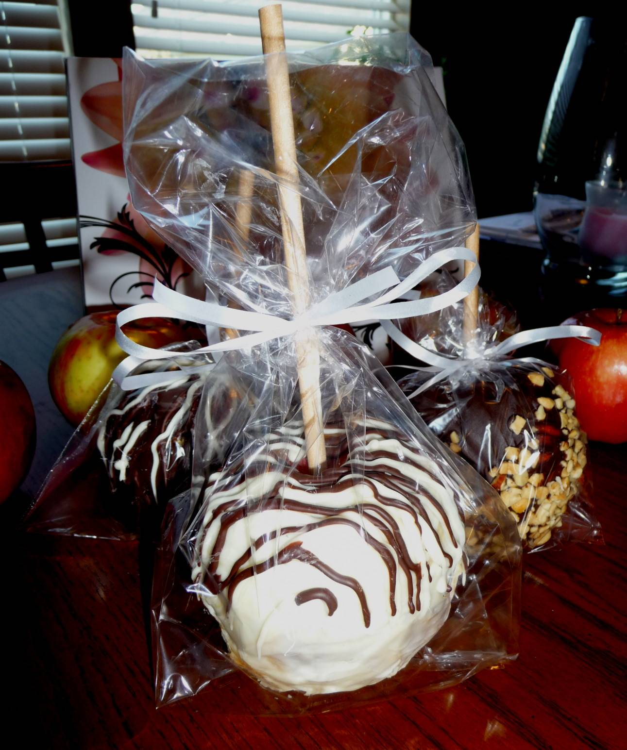 Chocolate Covered Apples in a bag $10 each