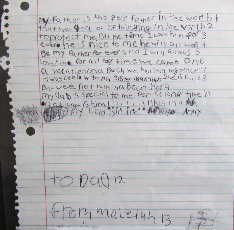 Maleiah's Letter