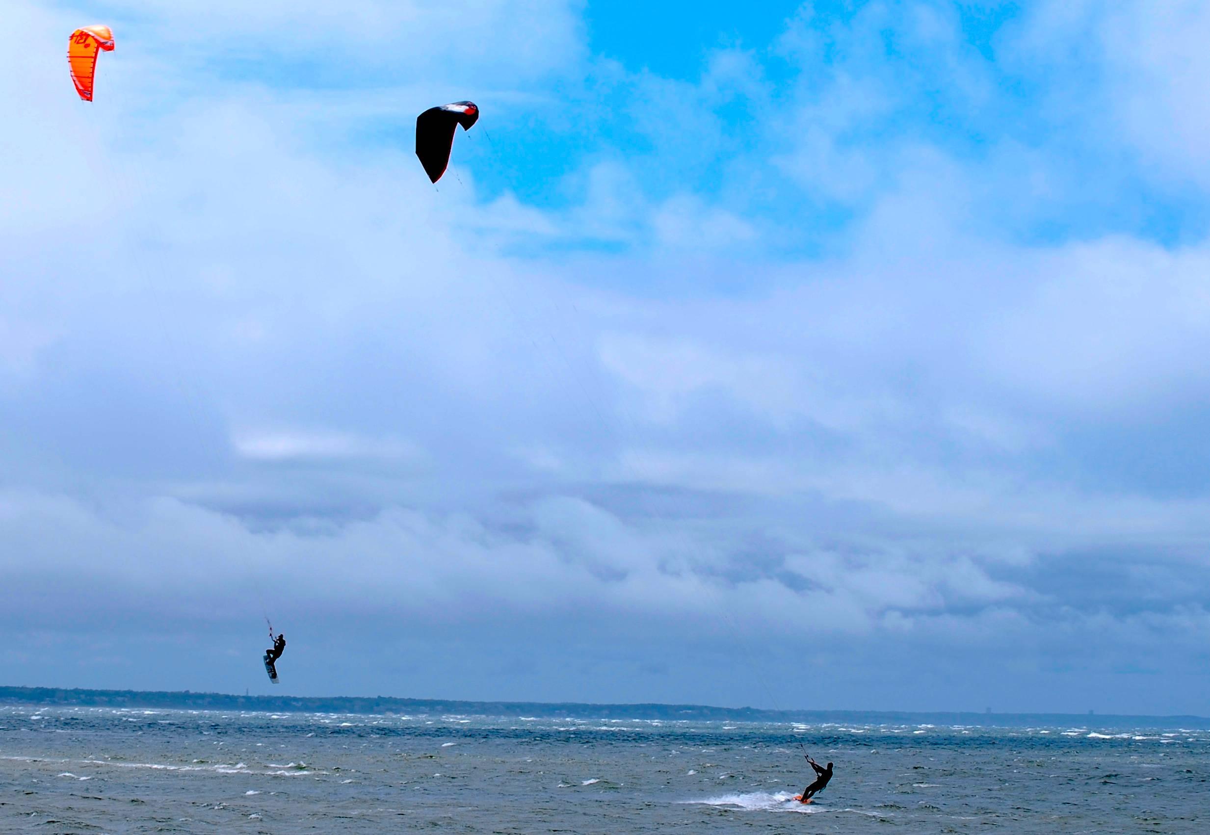Windsurfers at First Encounter Beach