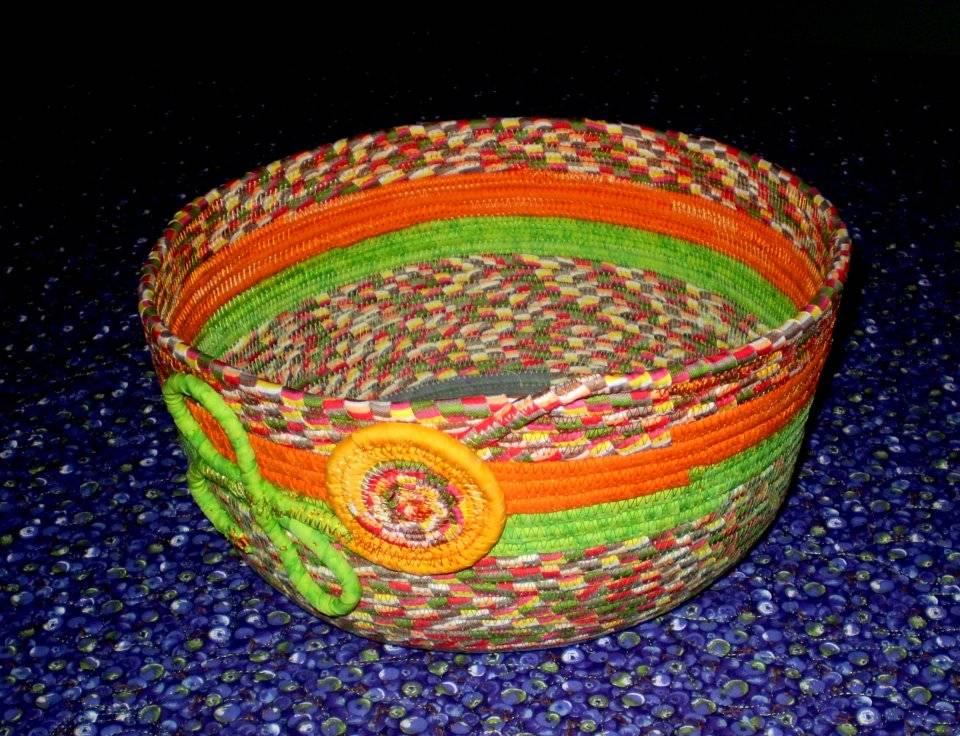 Clothesline basket for customer