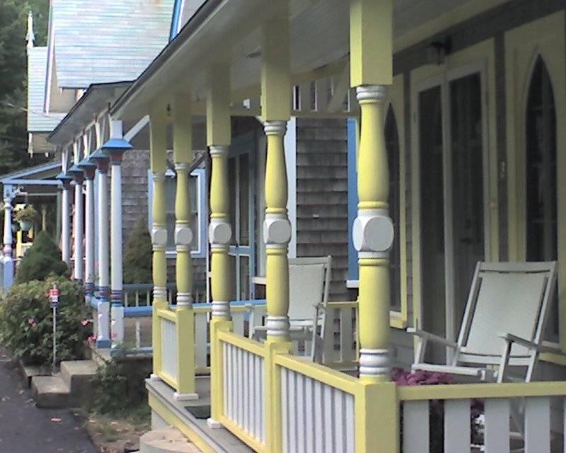 Cottage porches in Oak Bluffs