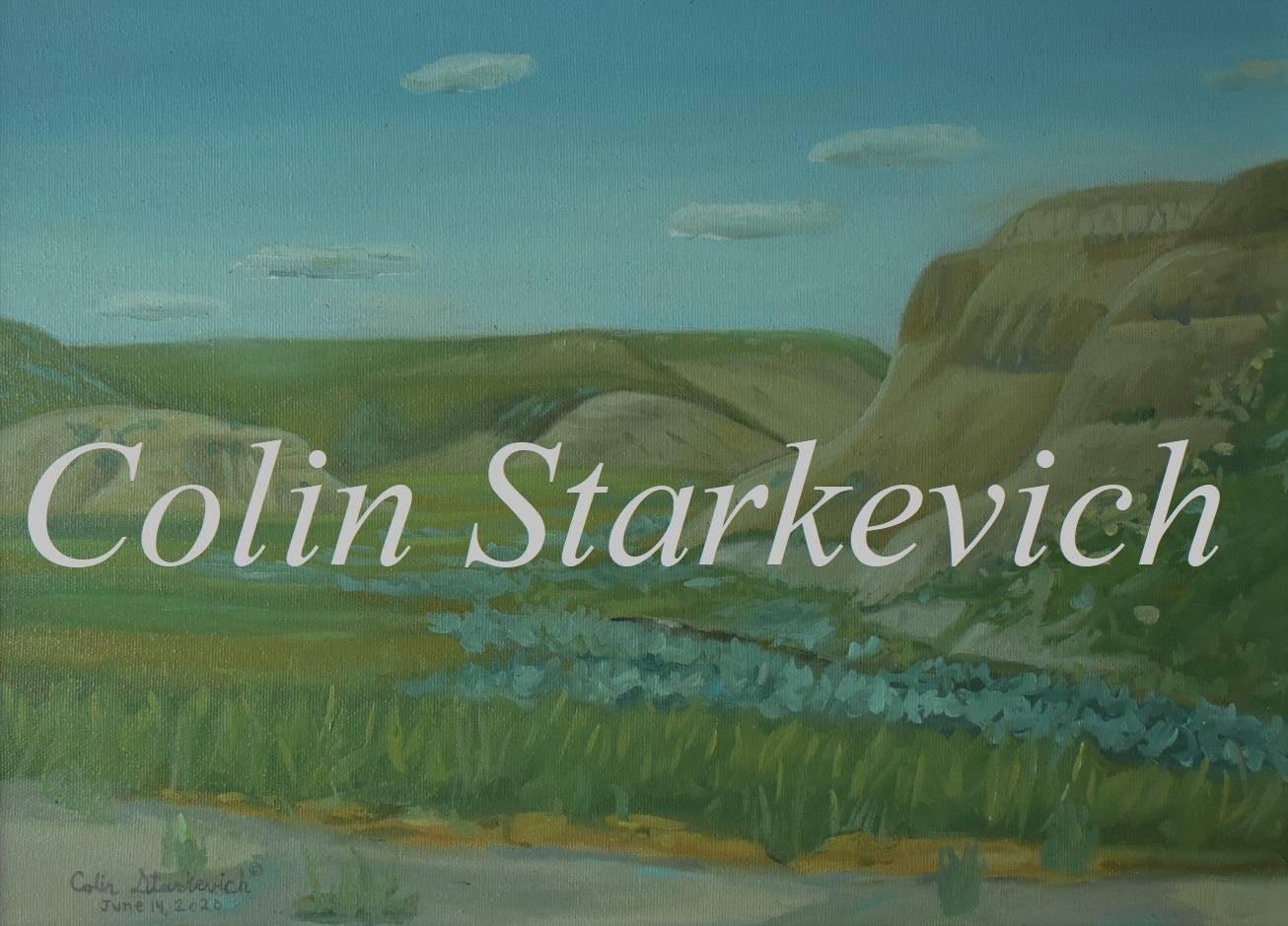 """Sage Creek Tributaryy (12 by 16"""" oil on canvas)"""