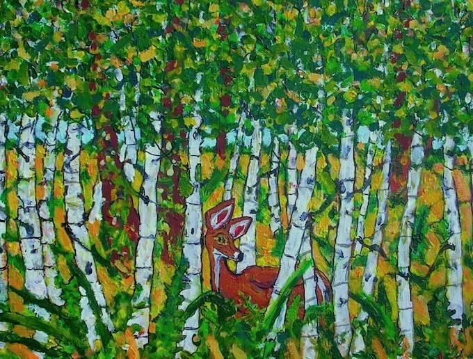 Birch Trees In Early Fall