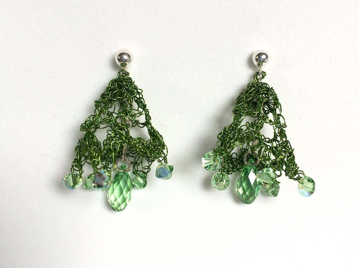 LIME GREEN LACY BELLS