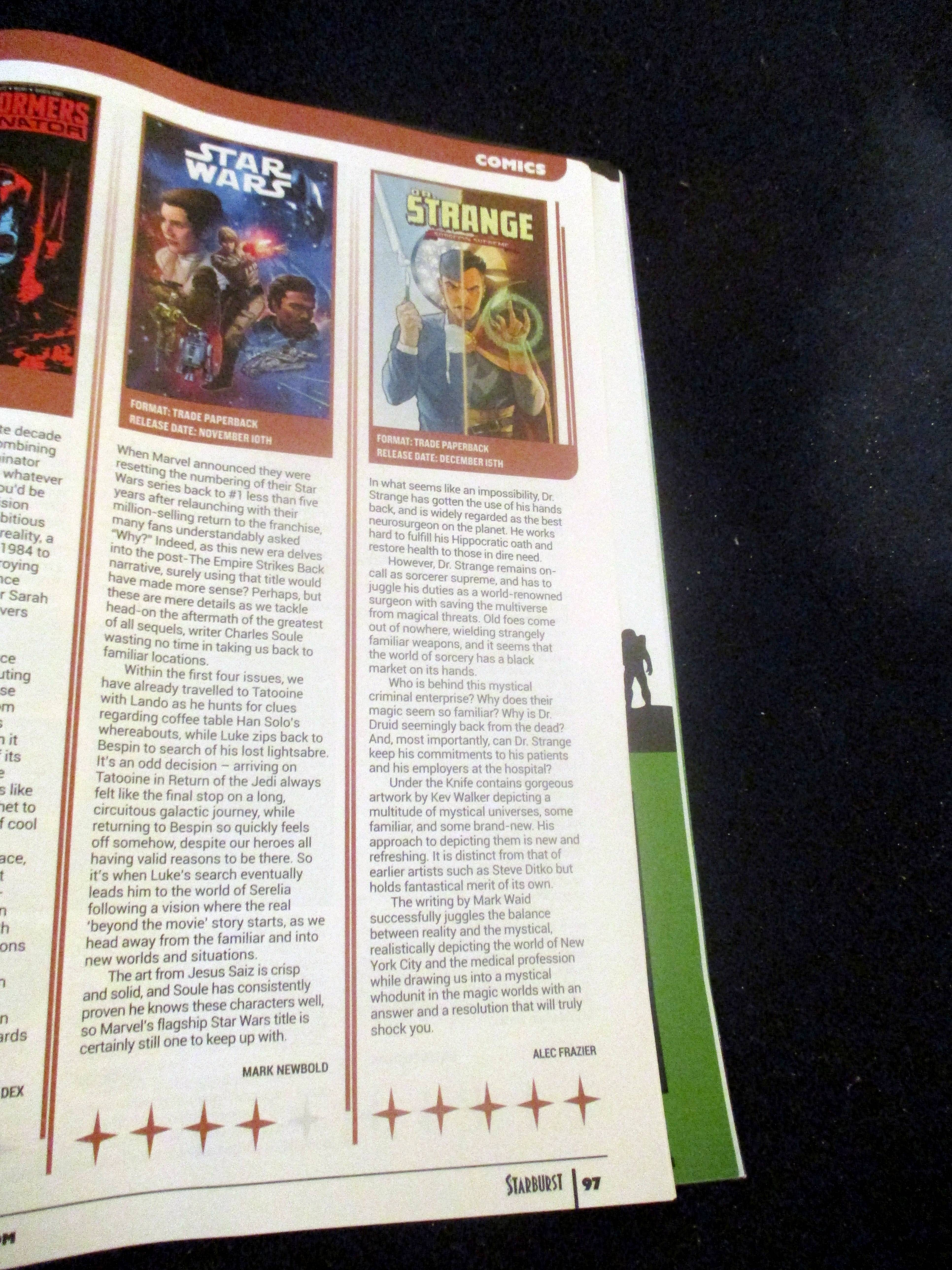 Review of Doctor Strange: Surgeon Supreme in Starburst Magazine #475: The Mandalorian Collectors¿ Edition at The Wombatorium 2.0: A Capital IdeaStarburst Magazine #475: The Mandalorian Collectors¿ Edition at The Wombatorium 2.0: A Capital Idea