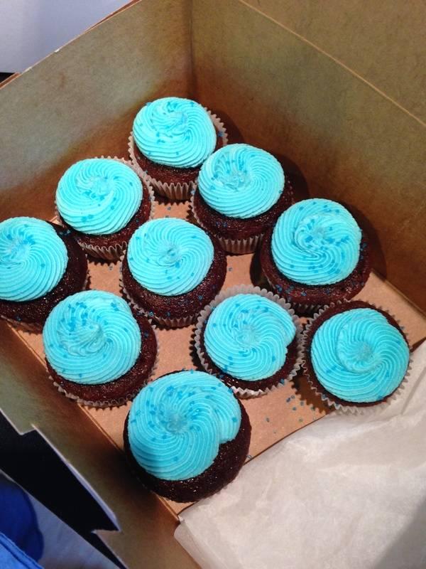 Mini Blue cucpakes