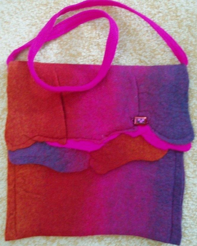 'Pink Copper'   felt bag