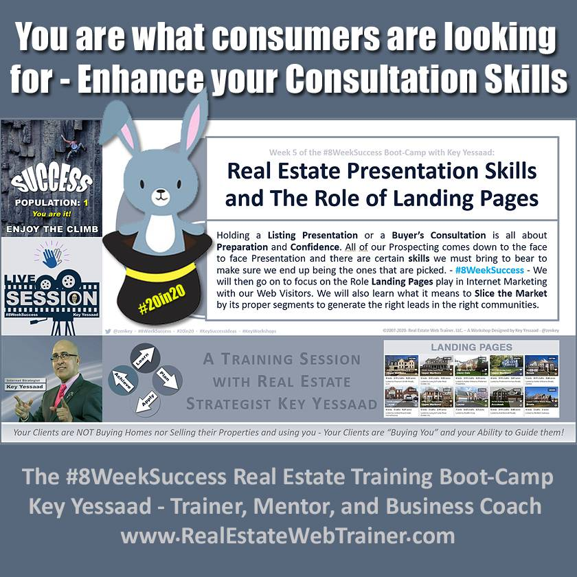 You are what consumers are looking for - Enhance your Consultation Skills - Week 5 July 2020 - #8WeekSuccess