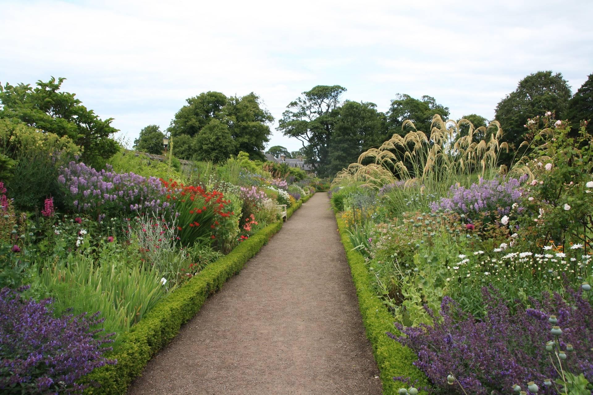Floral borders at Dirleton Castle