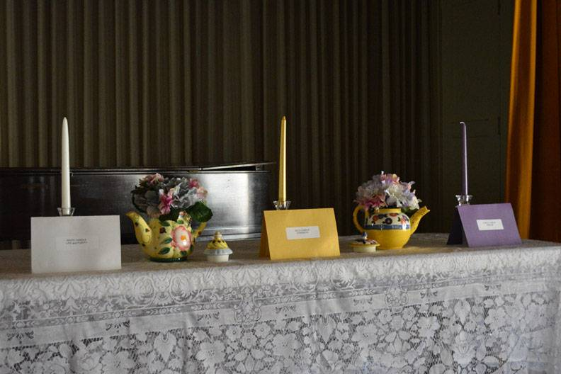 Candle Ceremony Table