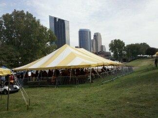 Beer tent.