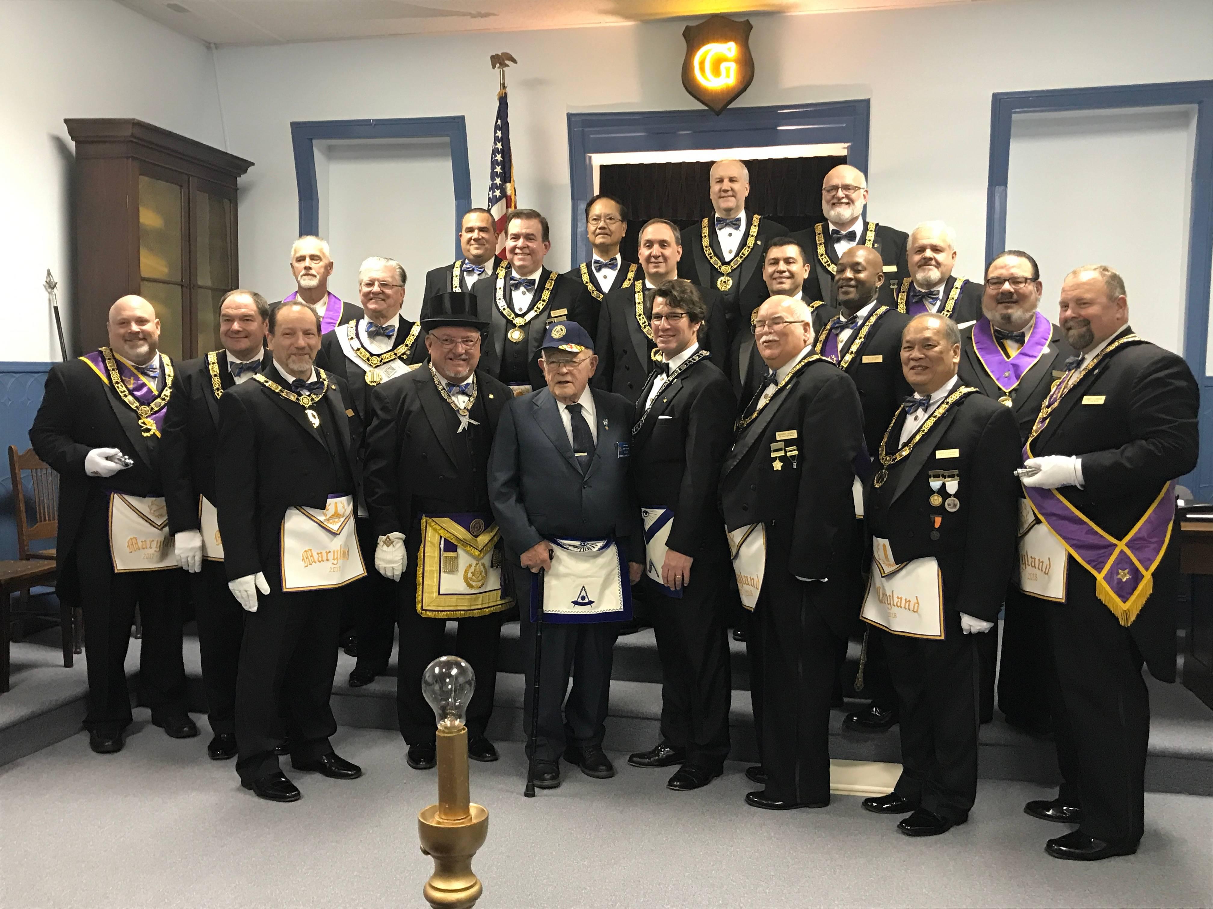 Bro. Warren Grove Receiving 60 year honors