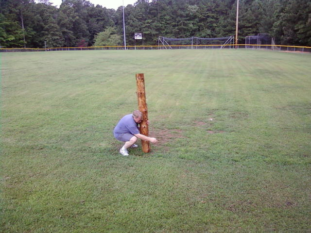 Almost the caber.