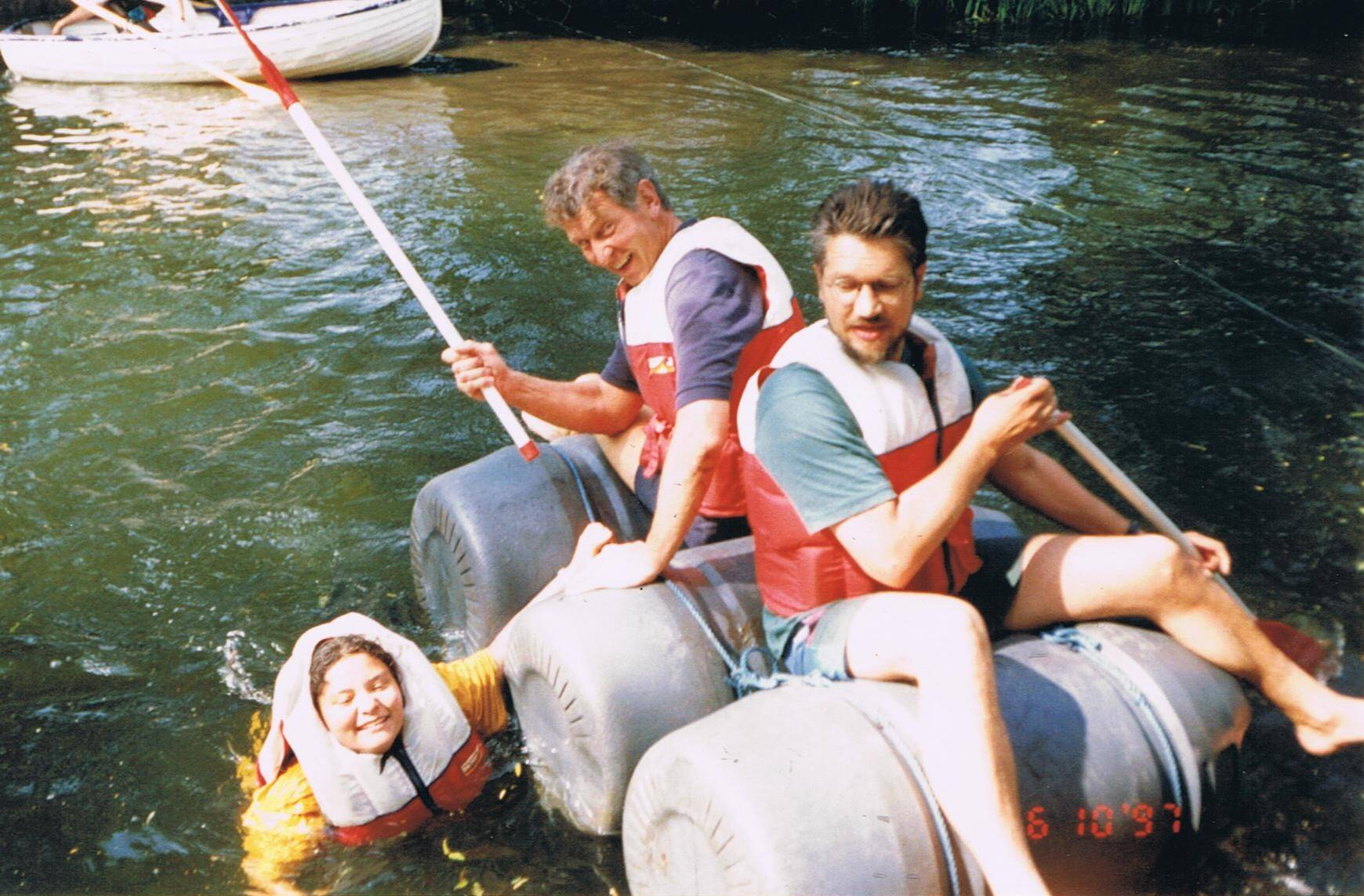 With Andrew Auster, Suffolk, UK, 1997