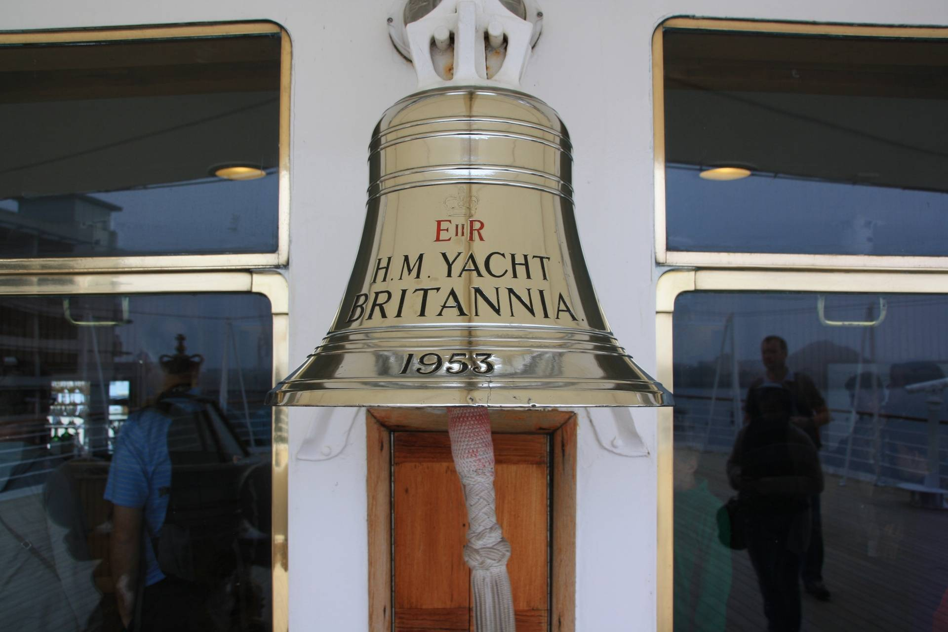 Bell on Royal Yacht Britannica