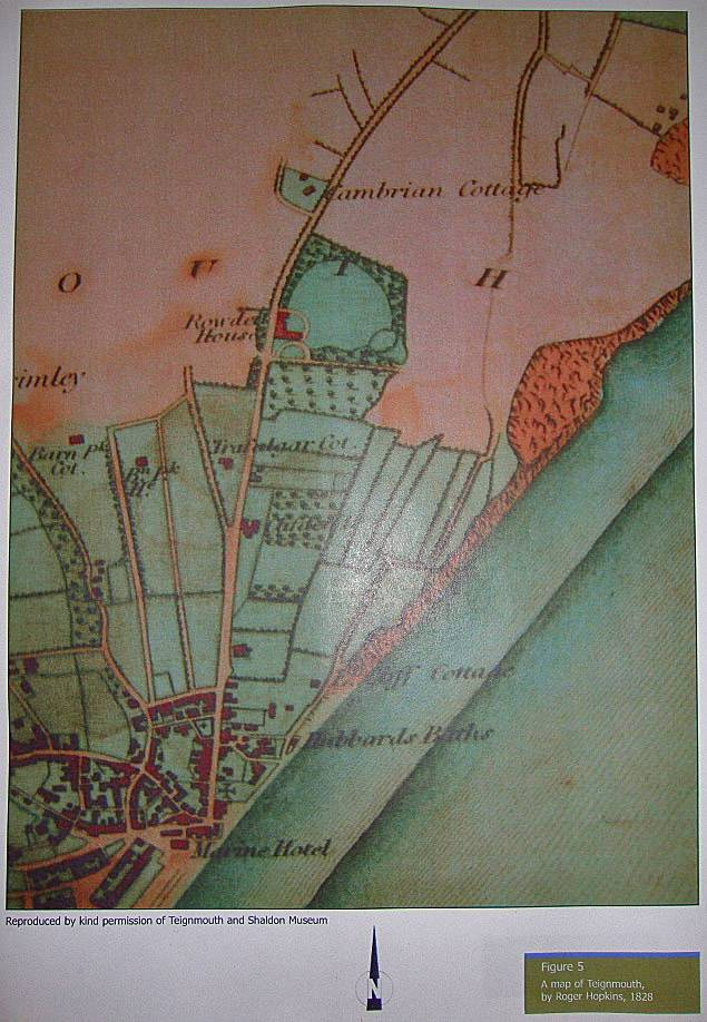 map of Teignmouth, by Roger Hopkins 1828