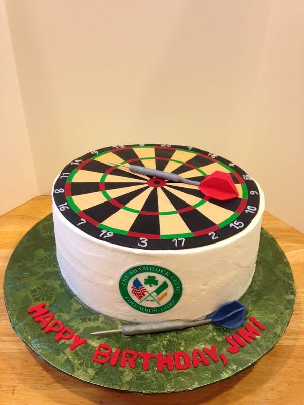 Dart Board Birthday Cake