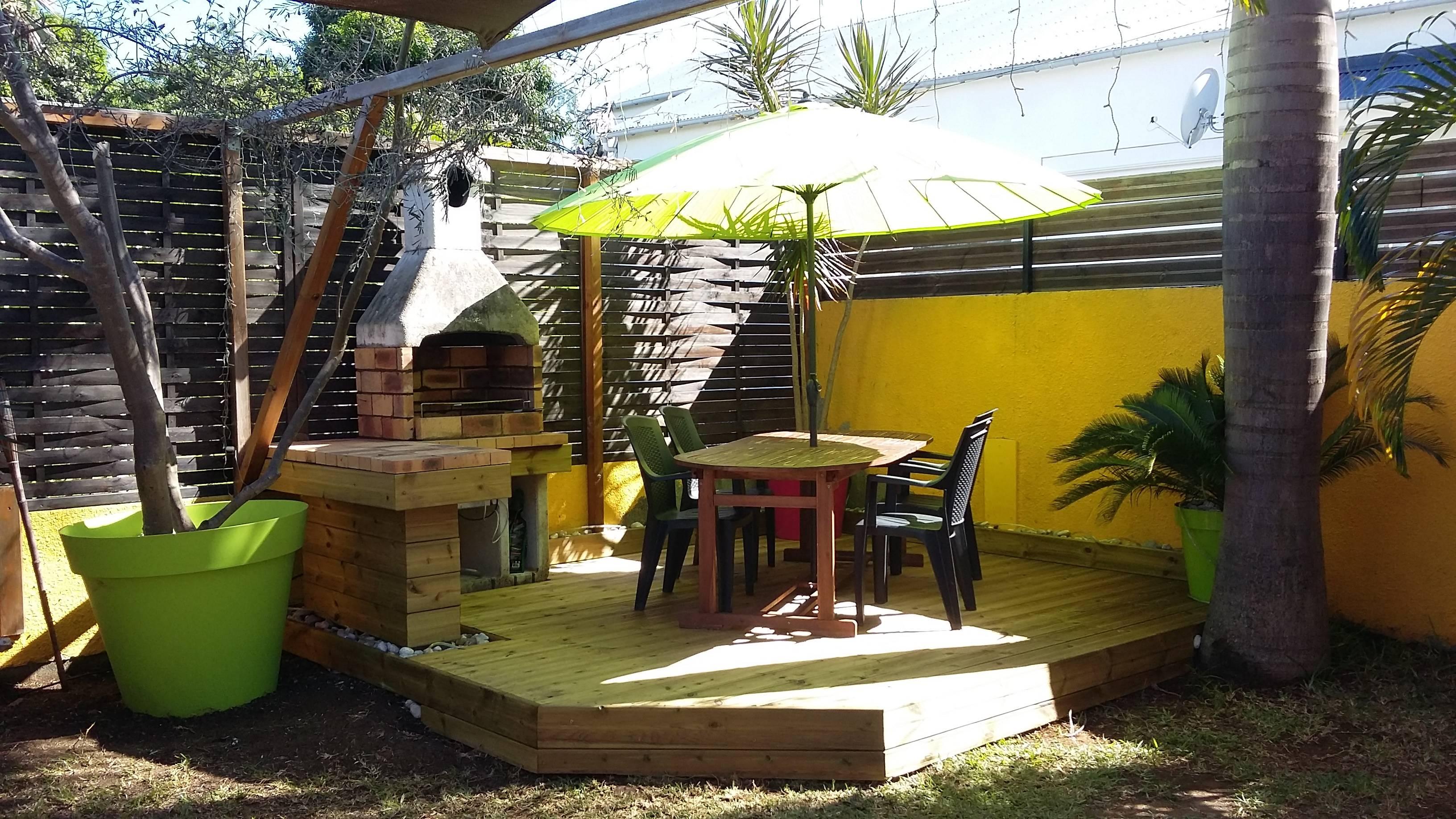 terrasse, cuisine feu de bois