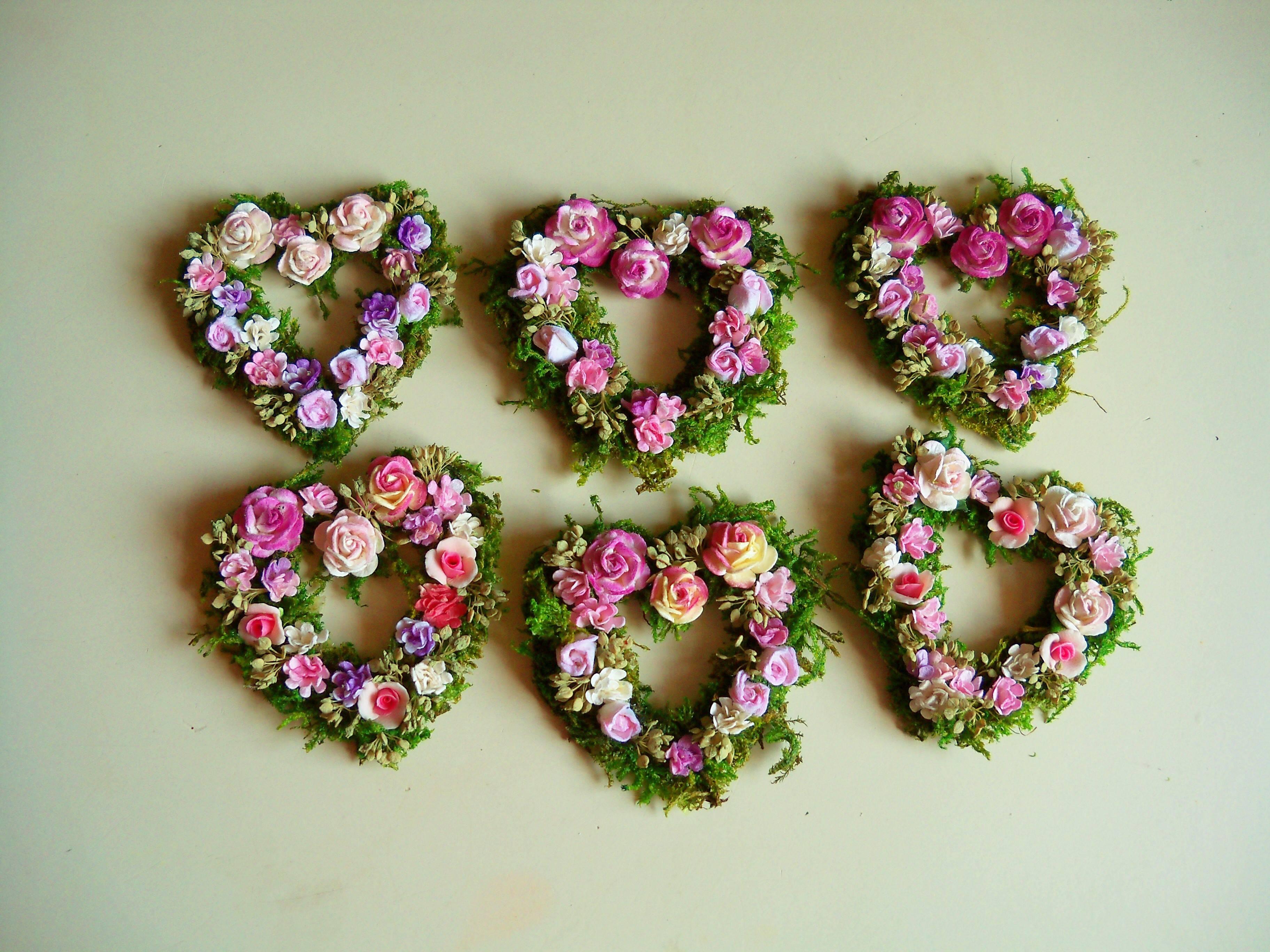 Floral heart wreaths