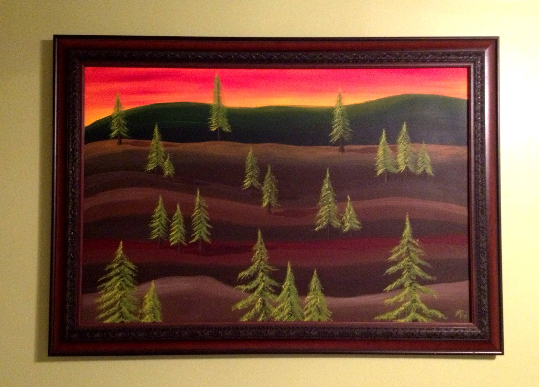 Dill Pickle Trees, 36X24 SOLD