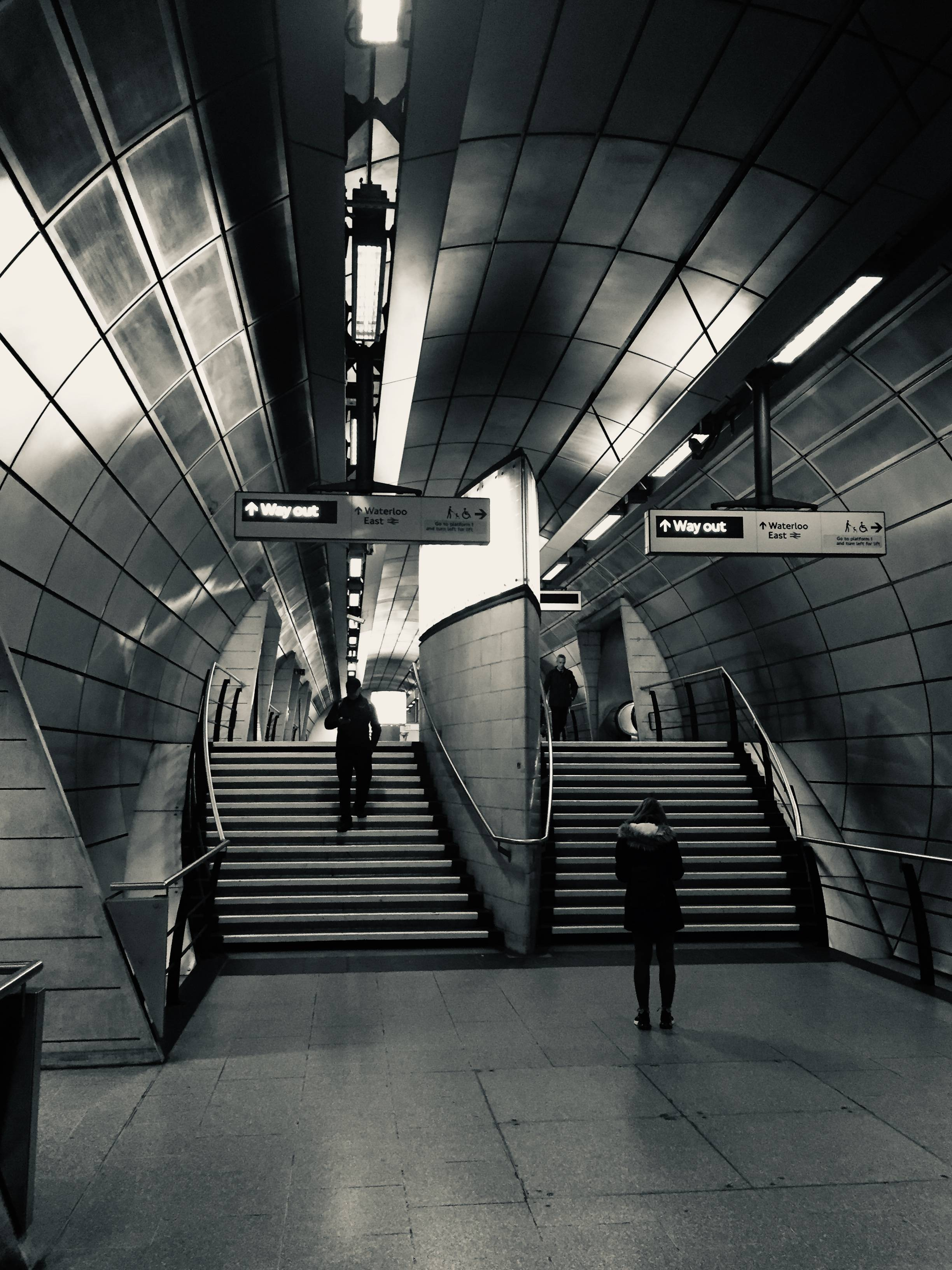 London B/W abstract photograph