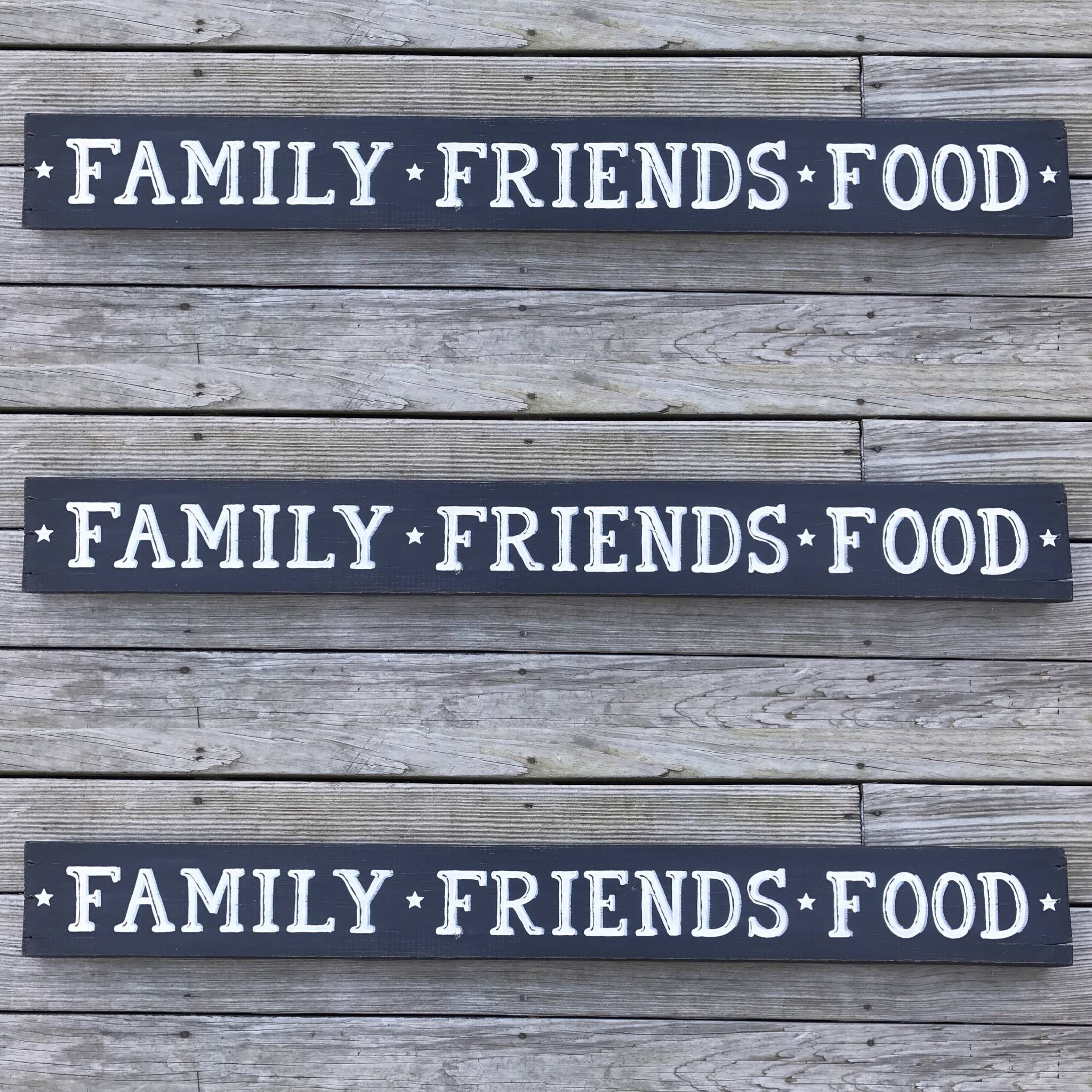 Family, Food, Friends