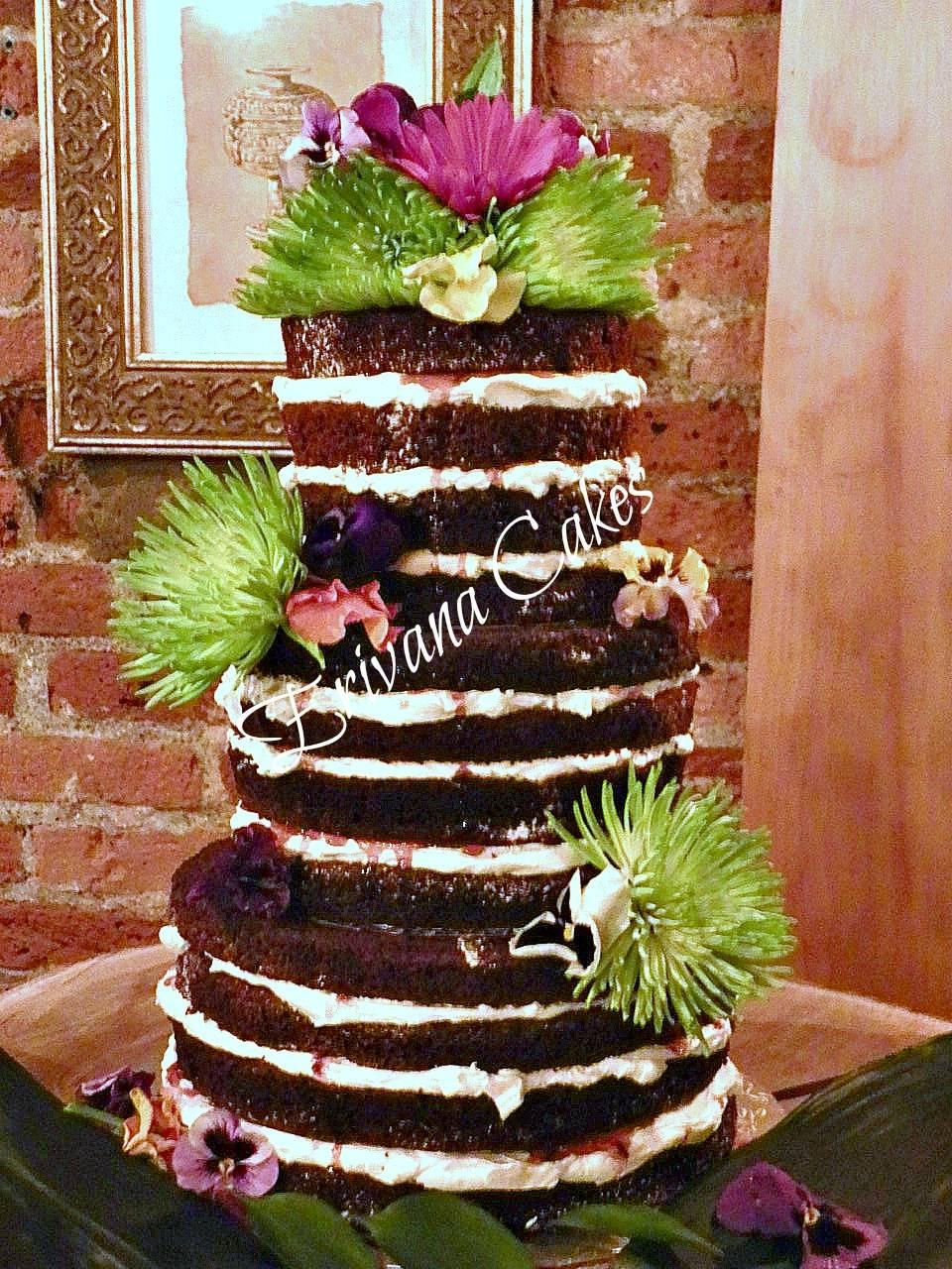 Naked/Bare wedding cake