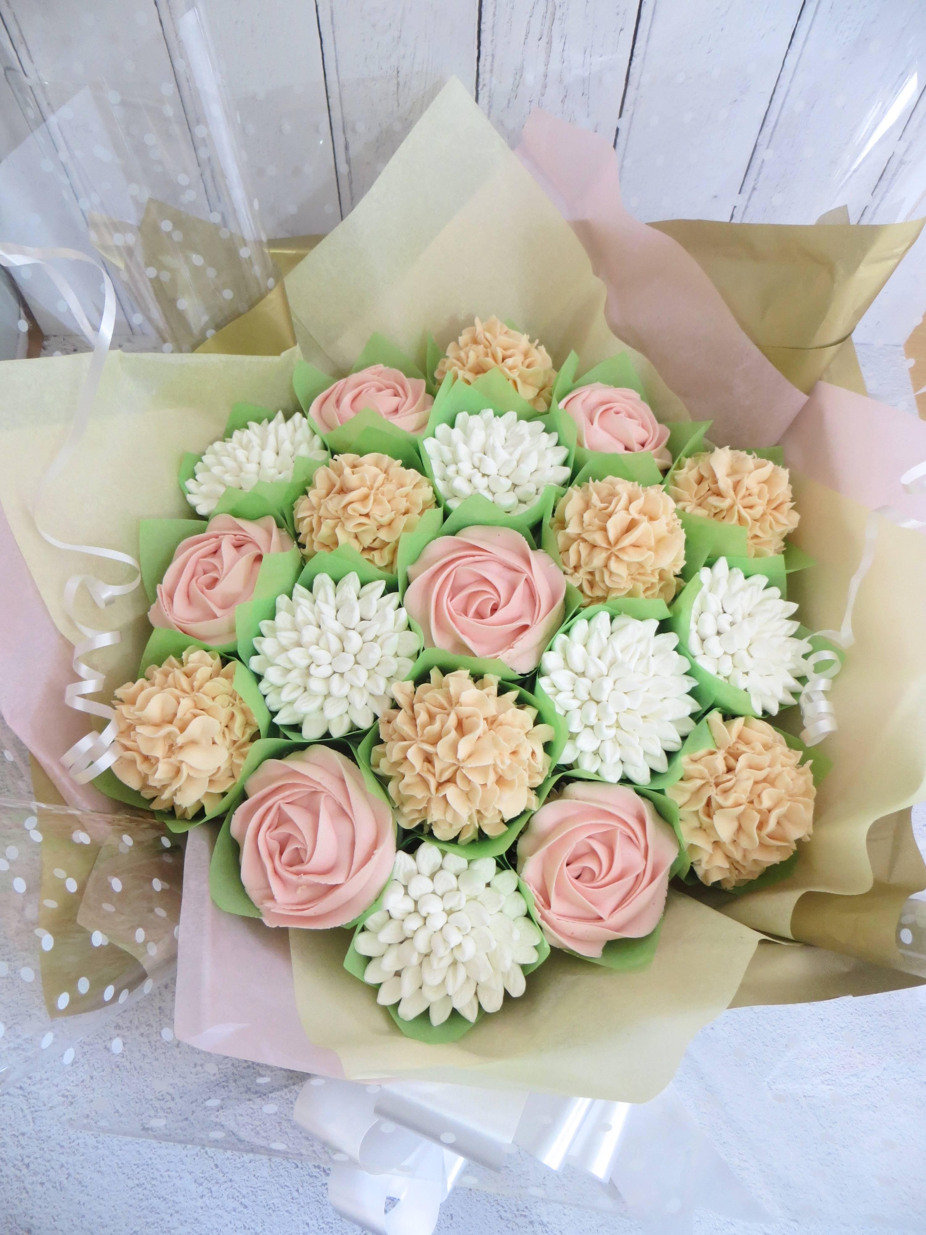 Blush Cupcake Bouquet