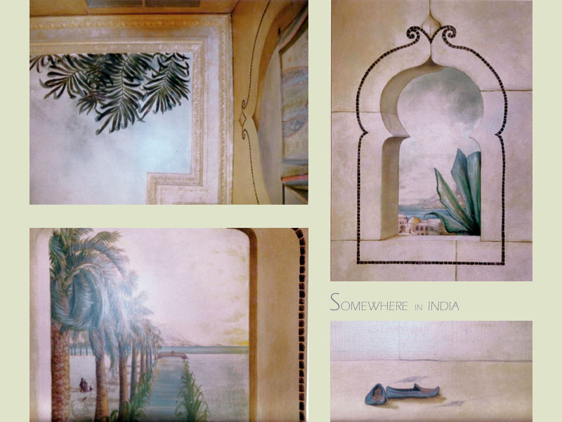 """mural title """" somewhere in India"""" private commission"""