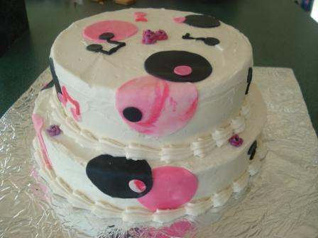 musical black and pink polka dots 30 serving $65