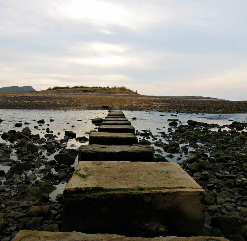 Stepping stones across Pennard Pill