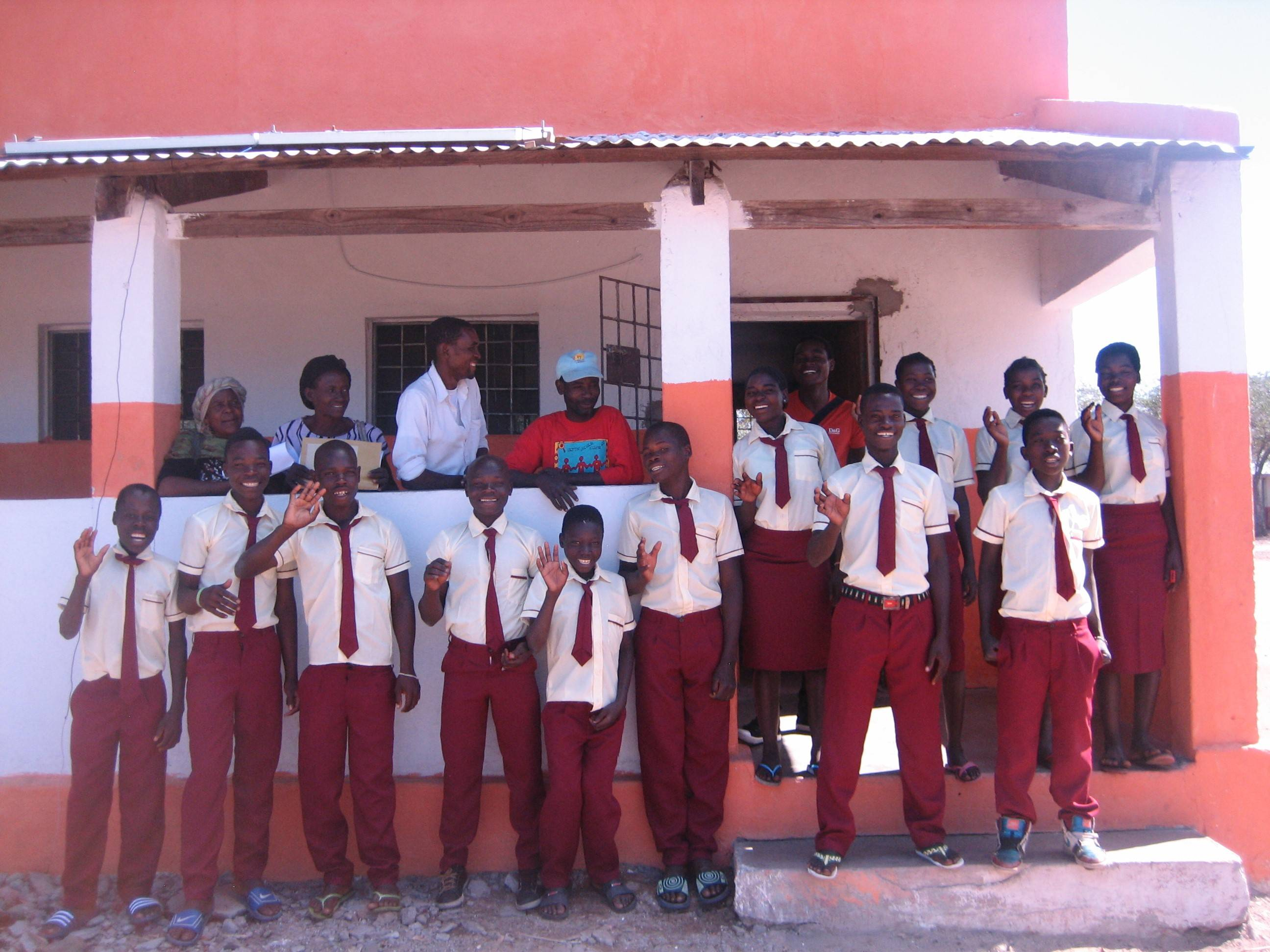 First students in the Community Learning Centre