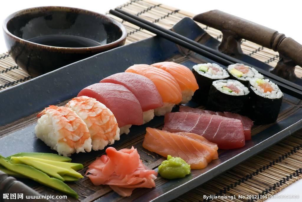 nigiri and sashimi