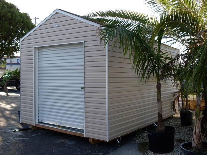 10x16 w/ 6 foot roll up / no eaves