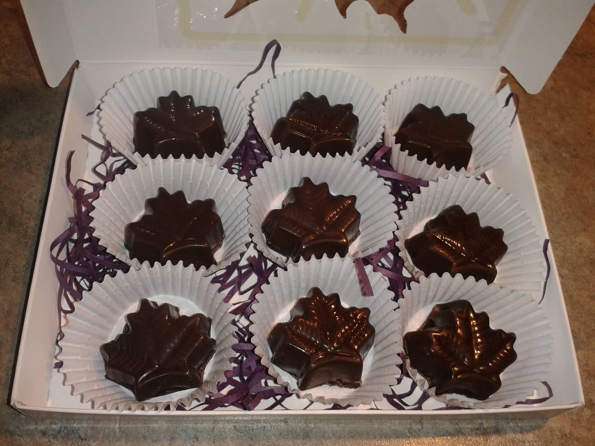 Chocolats au beurre d'érable