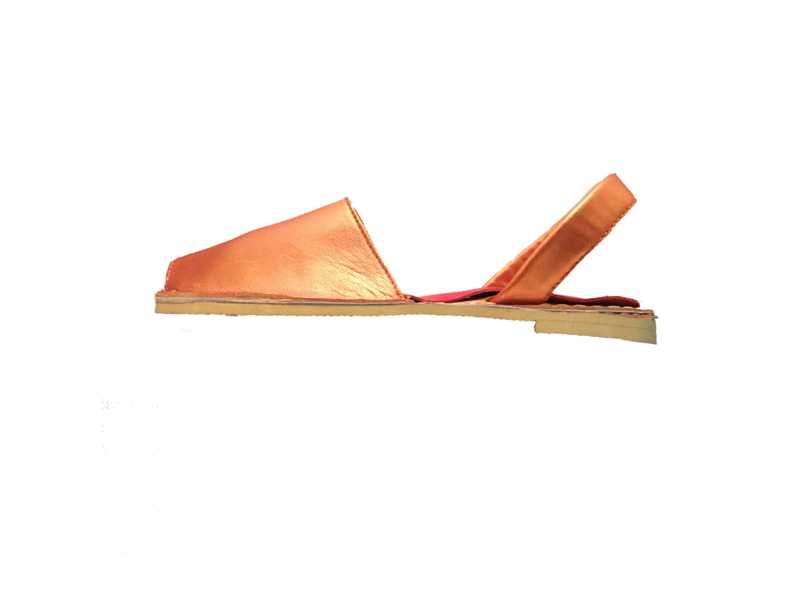 Metallic Orange Avarcas